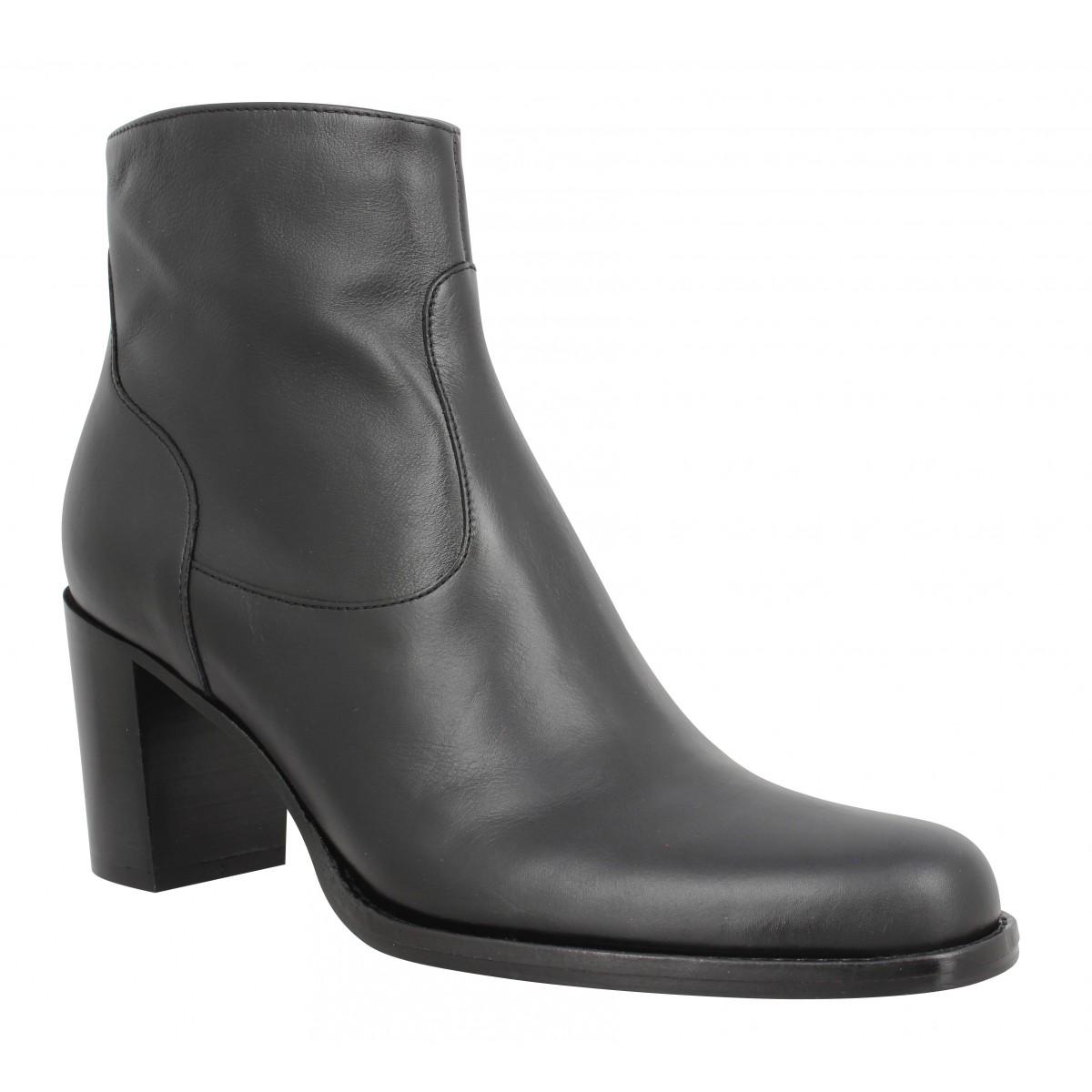 Bottines FREE LANCE Legend 7 Zip Boot cuir lisse Femme Noir