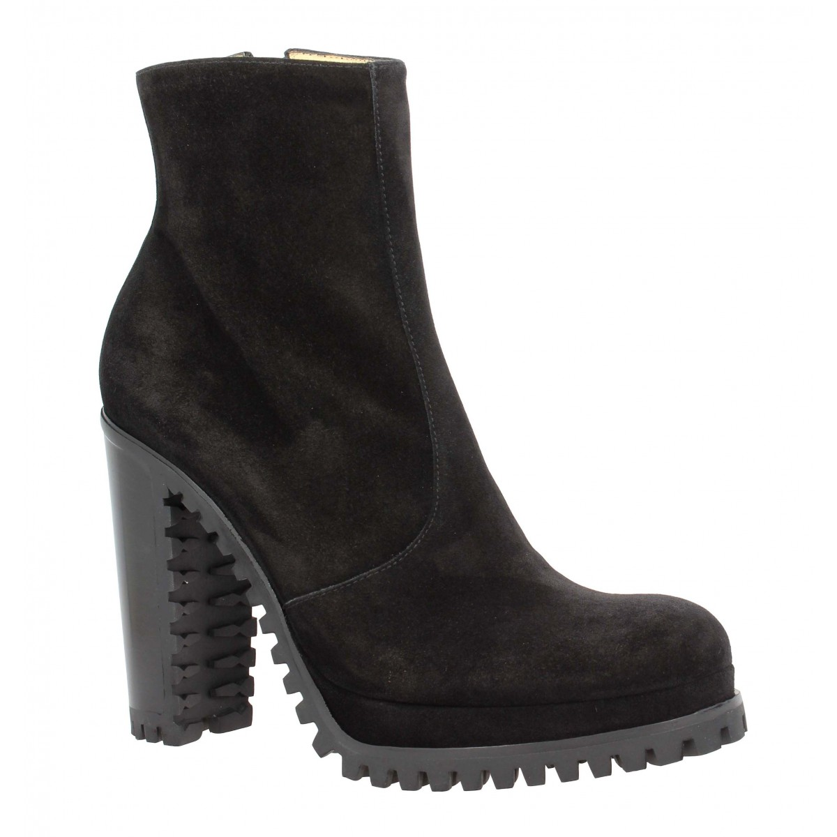 Bottines FREE LANCE Lery 7 Zip Boot velours Femme Noir