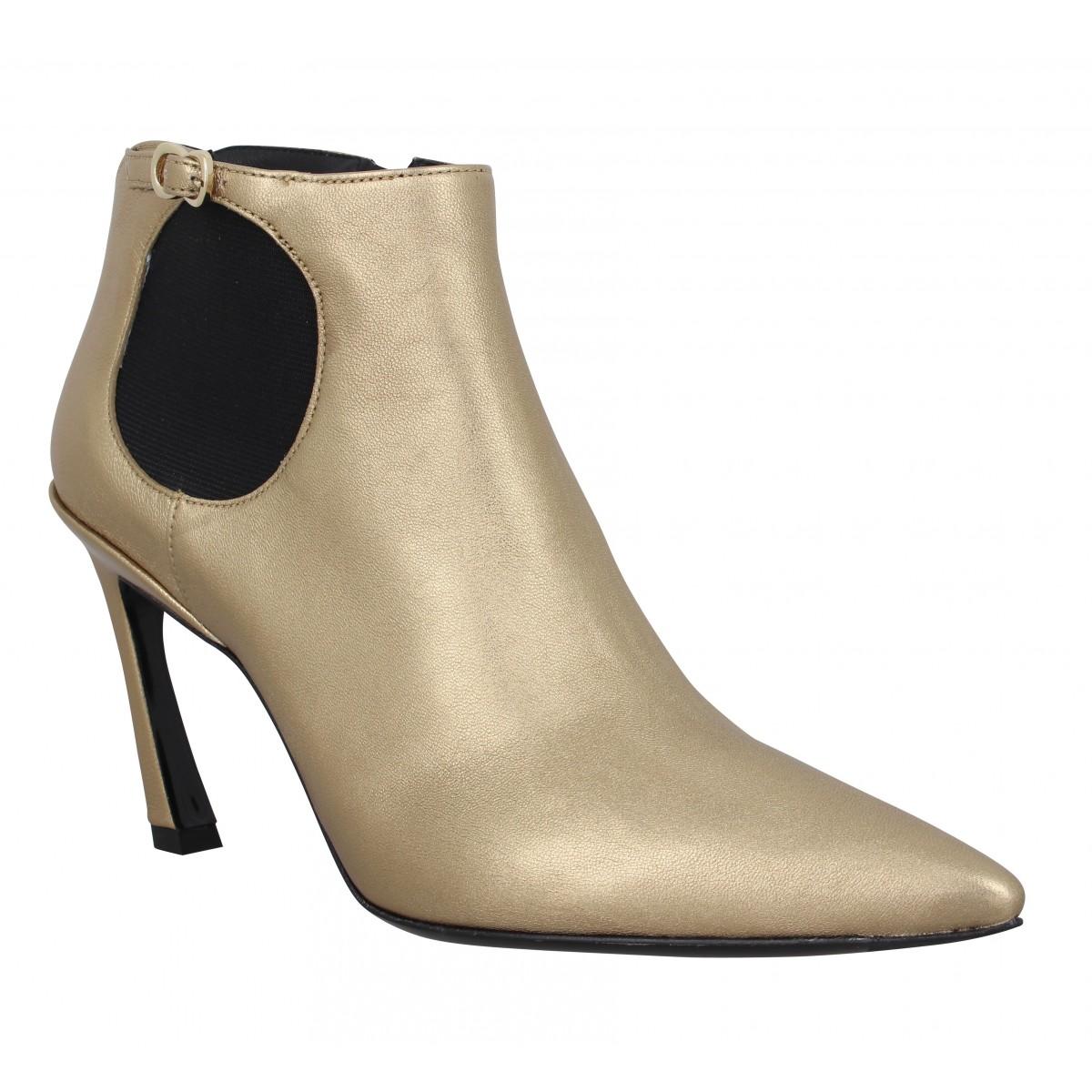Bottines FREE LANCE Luna 85 cuir Femme Gold