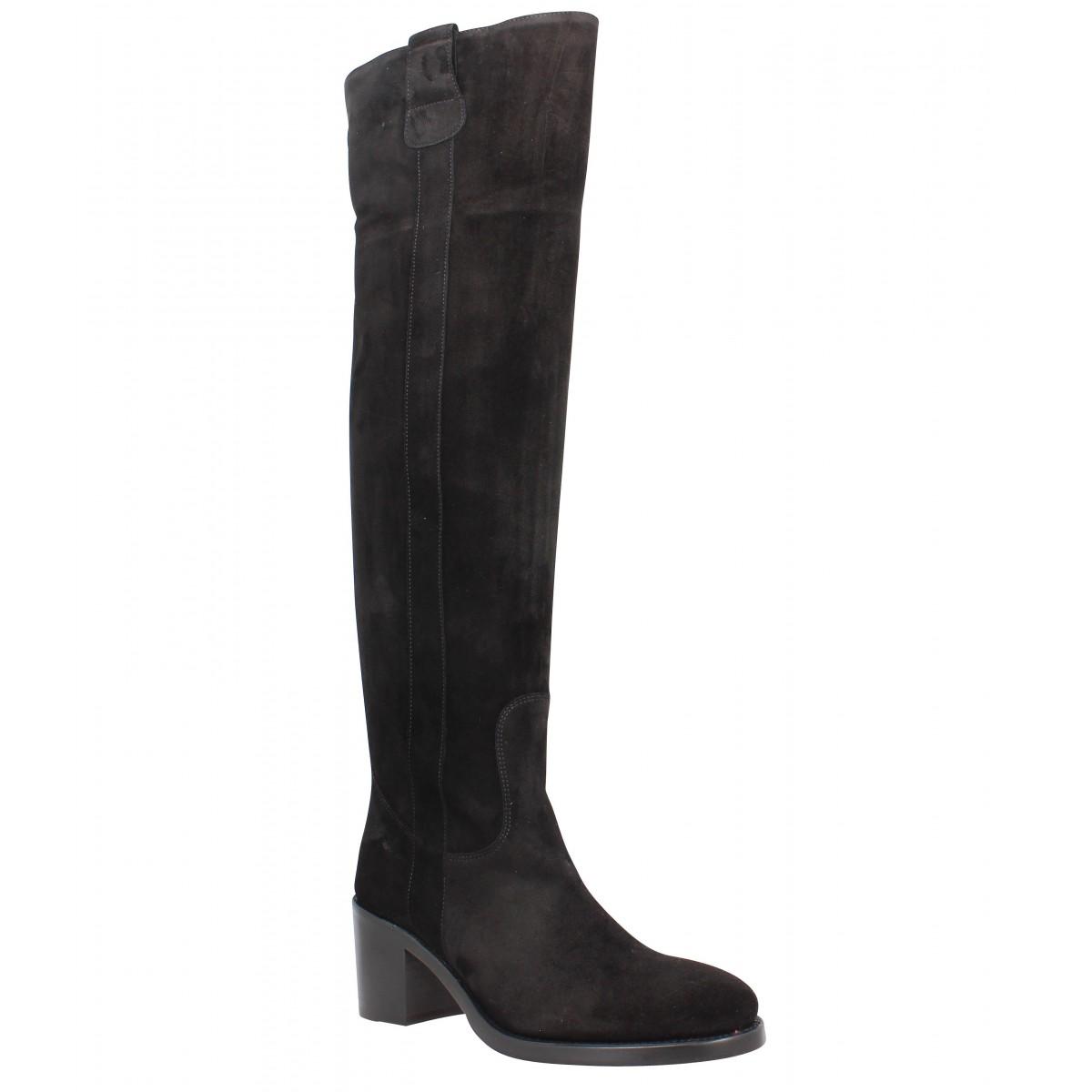 free lance mansory 7 genouillere velours femme noir femme fanny chaussures. Black Bedroom Furniture Sets. Home Design Ideas