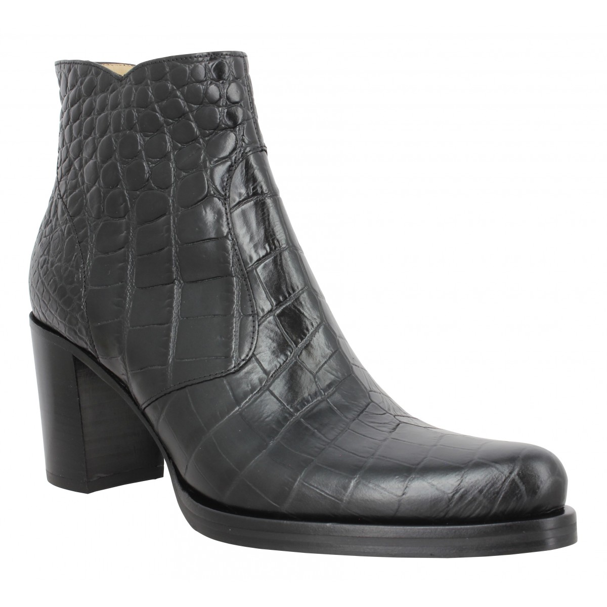 Bottines FREE LANCE Paddy 7 Zip Boot croco first Femme Noir