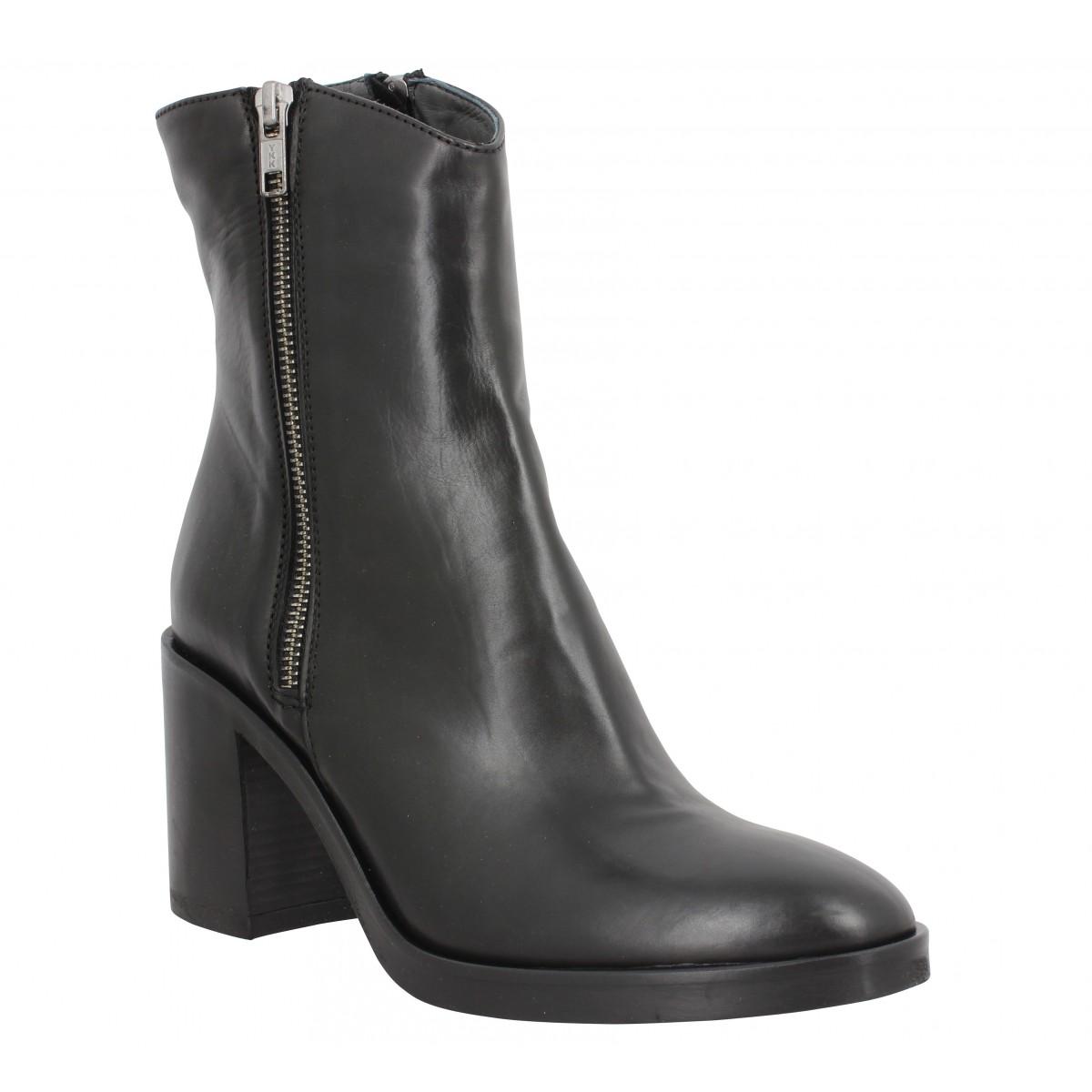 Bottines FRU.IT 6710 cuir Femme Noir