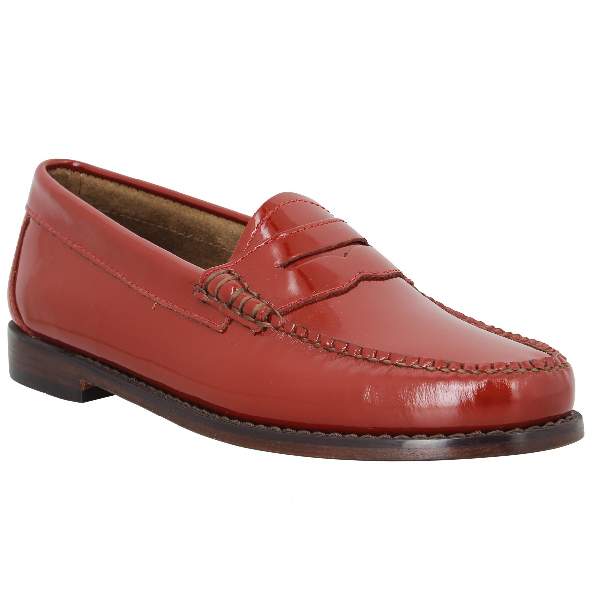 Mocassins GH BASS & CO Weejuns Penny vernis Femme Spanish Red