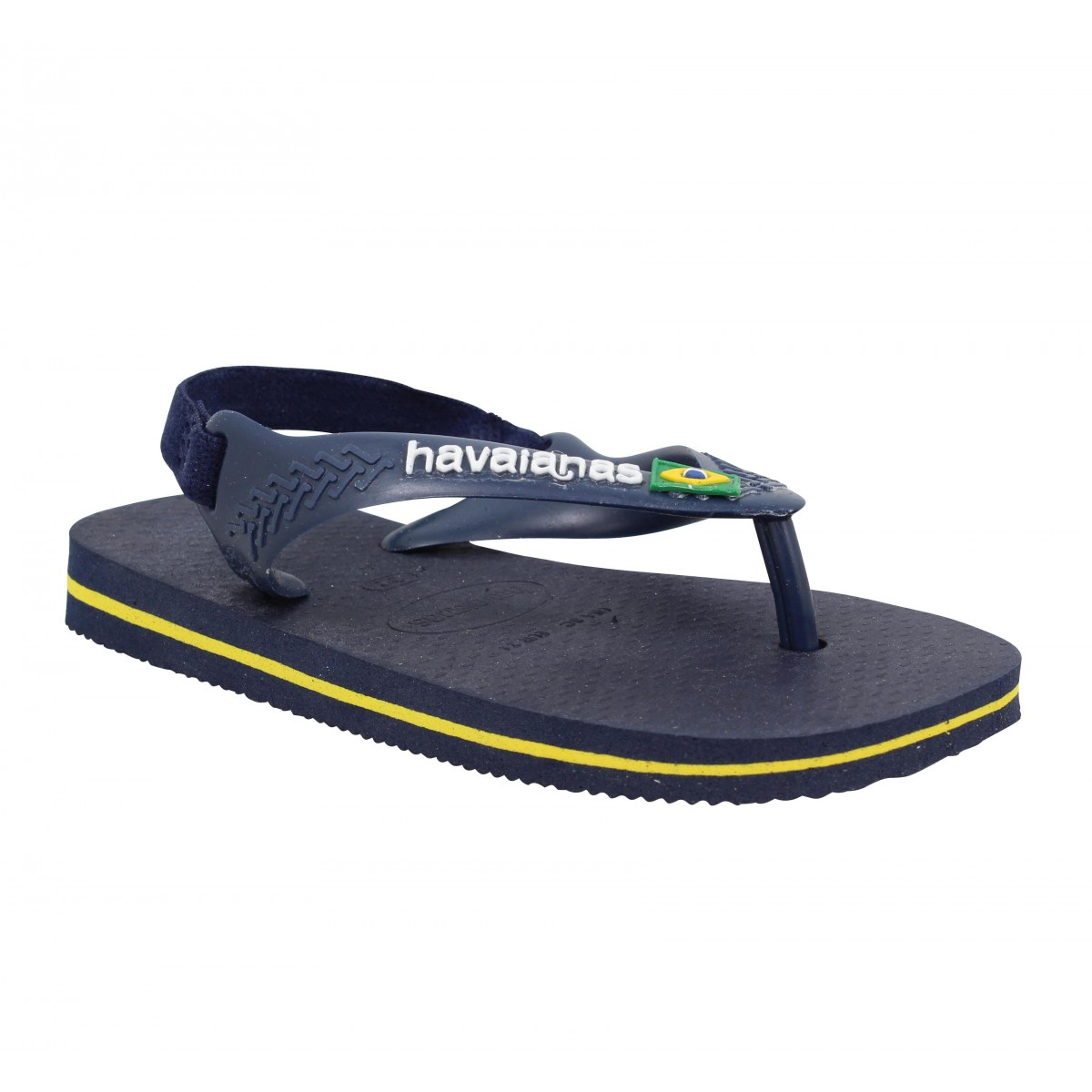 Tongs HAVAIANAS Baby Brasil Logo caoutchouc Enfant Navy