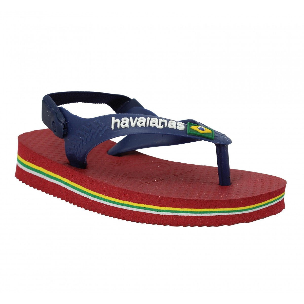 Tongs HAVAIANAS Baby Brasil Logo caoutchouc Enfant Red