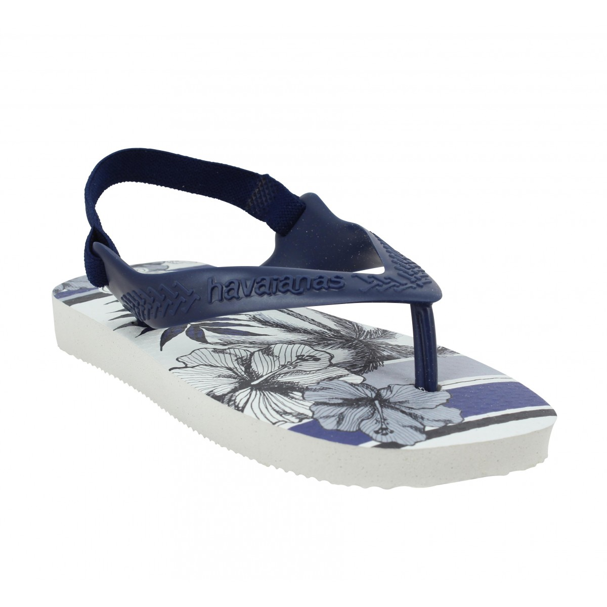 Tongs HAVAIANAS Baby Chic caoutchouc Enfant White Navy