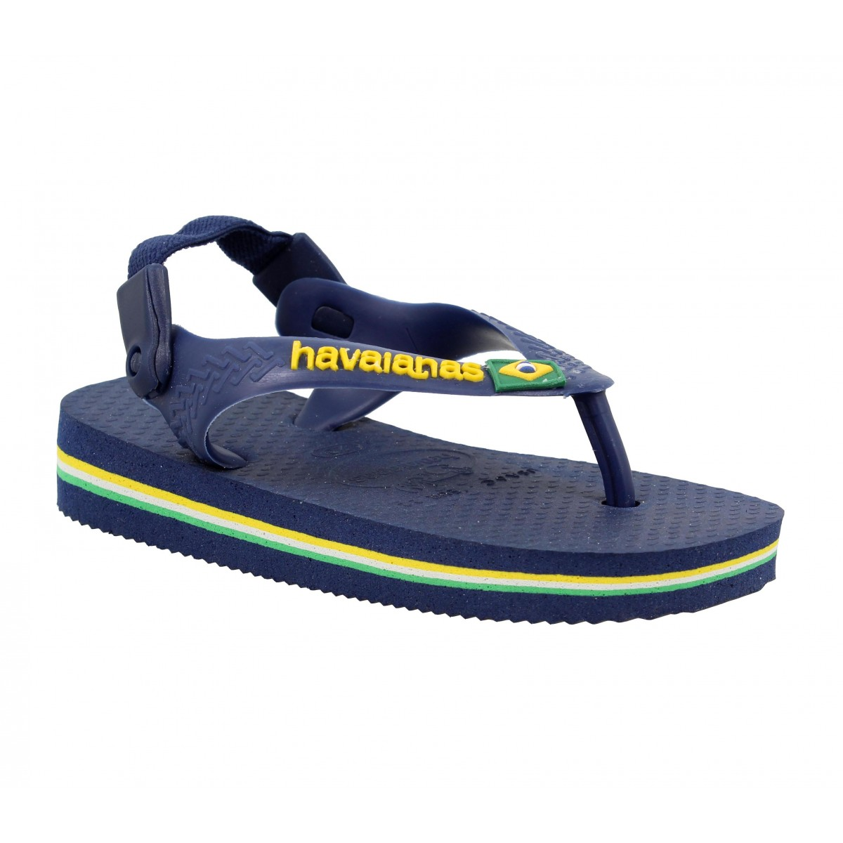 Tongs HAVAIANAS Brasil Logo Baby caoutchouc Enfant Navy