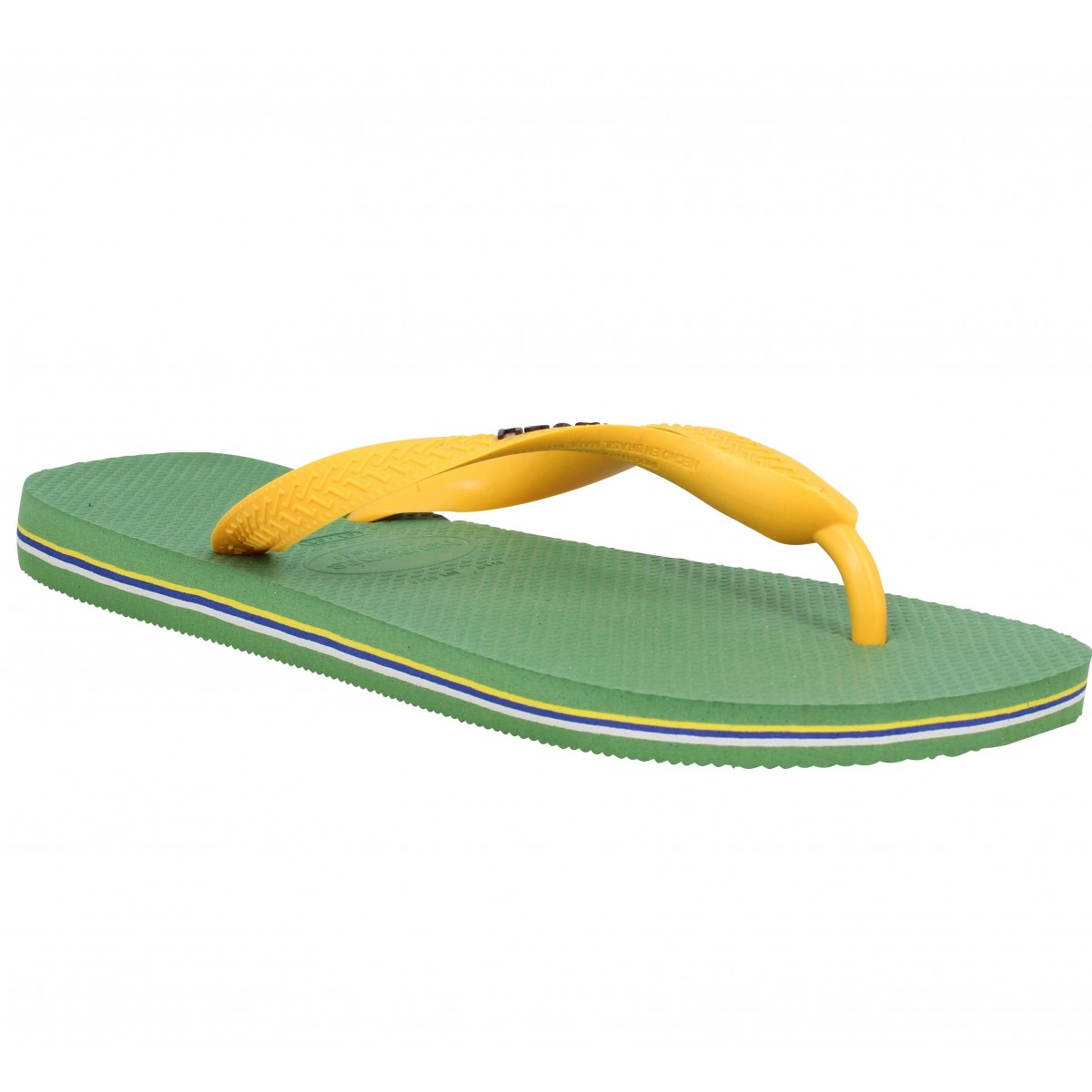 Tongs HAVAIANAS Brasil Logo caoutchouc Homme Green