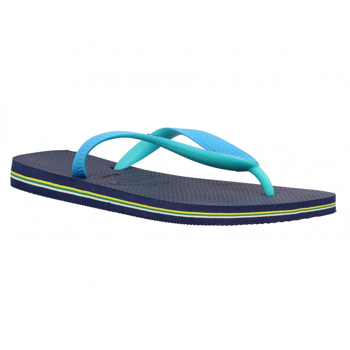 Tongs HAVAIANAS Brasil Mix caoutchouc Homme Navy + Turquoise