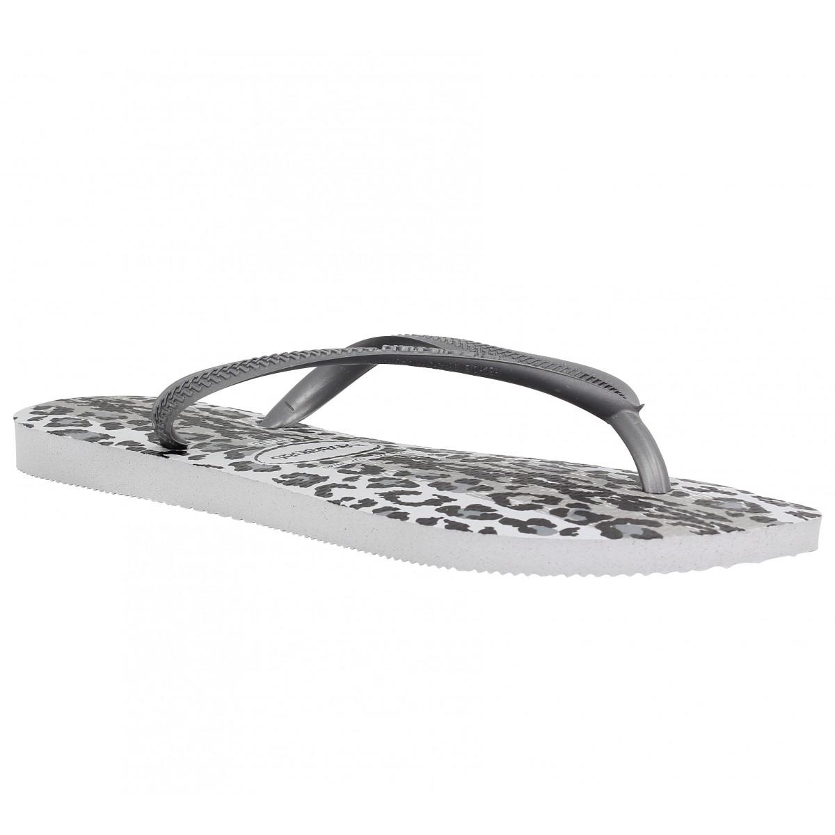 4e12ae007880c Havaianas slim animal caoutchouc femme grey femme | Fanny chaussures