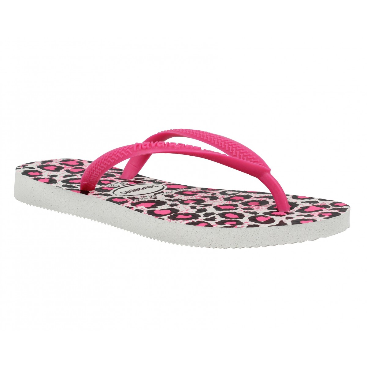 Tongs HAVAIANAS Slim Animals caoutchouc Enfant Blanc + Rose