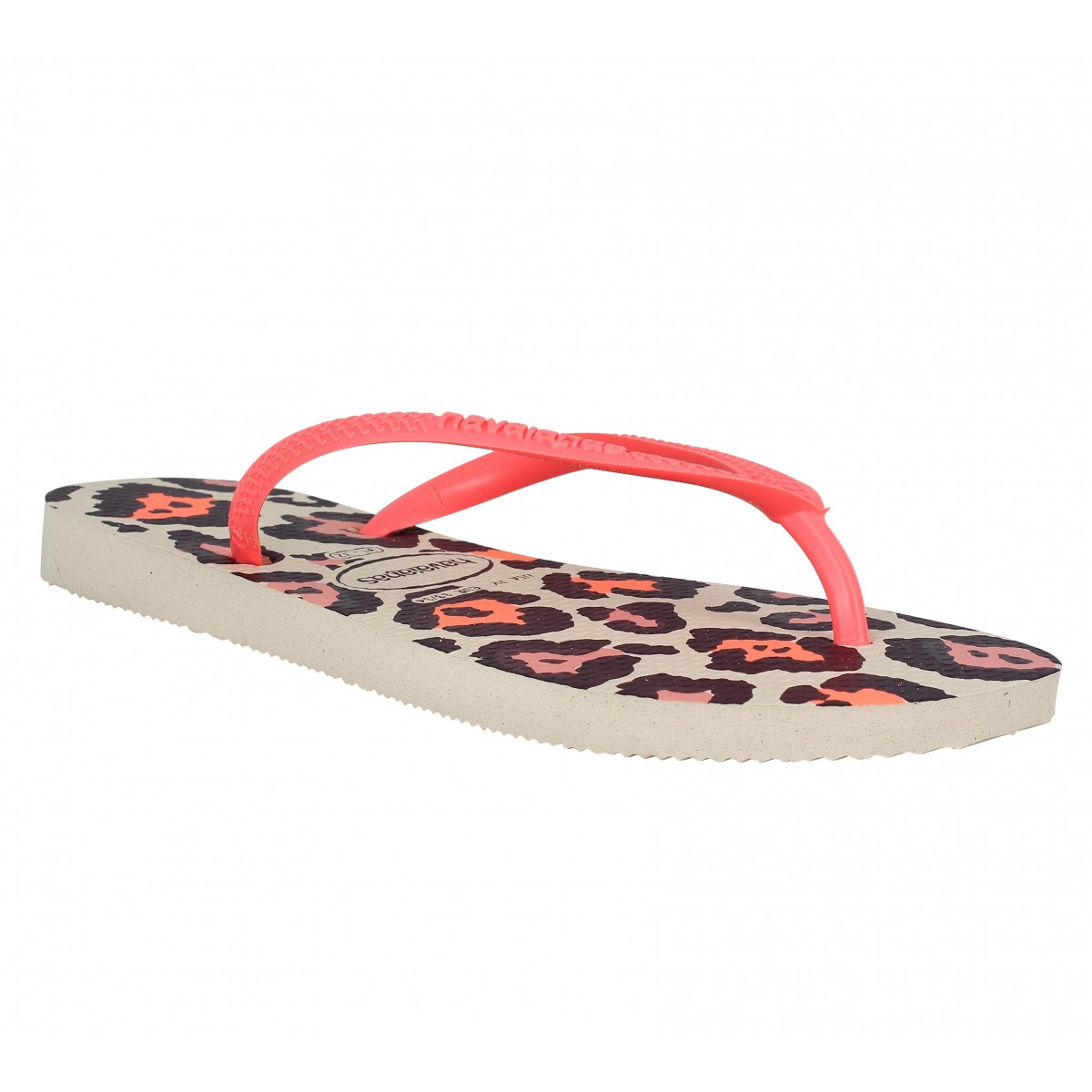 soldes havaianas slim animals caoutchouc enfant coral enfants fanny chaussures. Black Bedroom Furniture Sets. Home Design Ideas