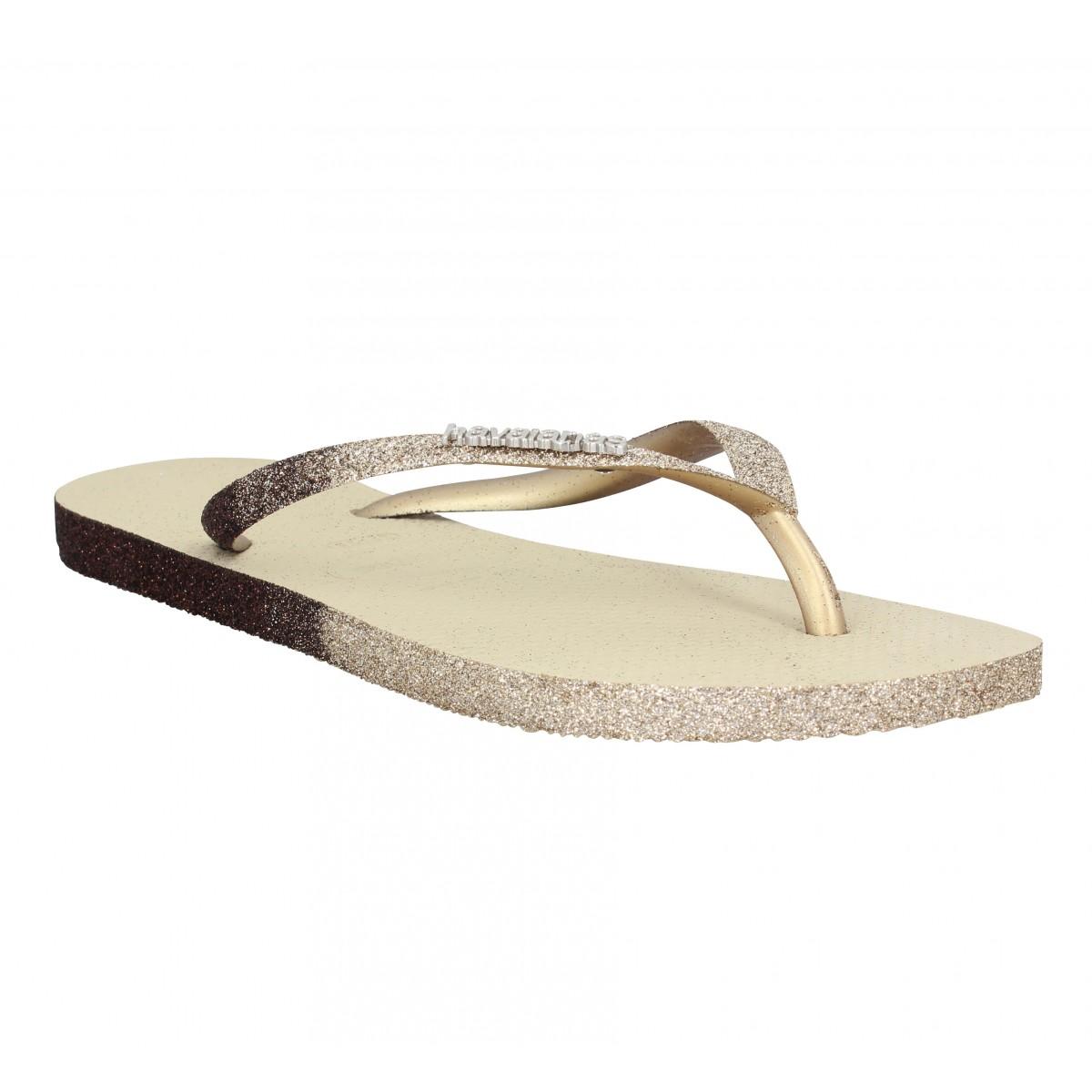 Tongs HAVAIANAS Slim Sparkle caoutchouc Femme Sand