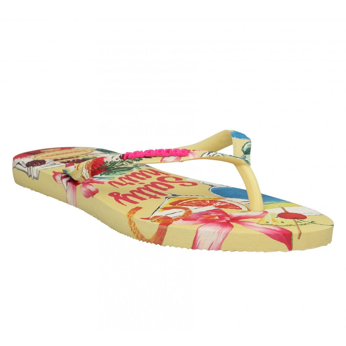 Havaianas Marque Slim Summer Caoutchouc...