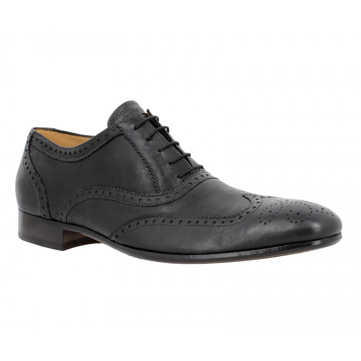 Chaussures à lacets HESCHUNG Dryade Safari cuir Homme Noir
