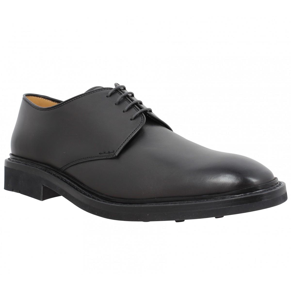Chaussures à lacets HESCHUNG Fustet cuir Homme Noir