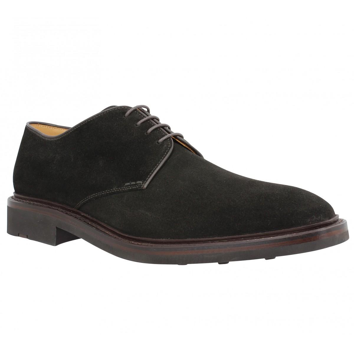Chaussures à lacets HESCHUNG Fustet velours Homme Marron
