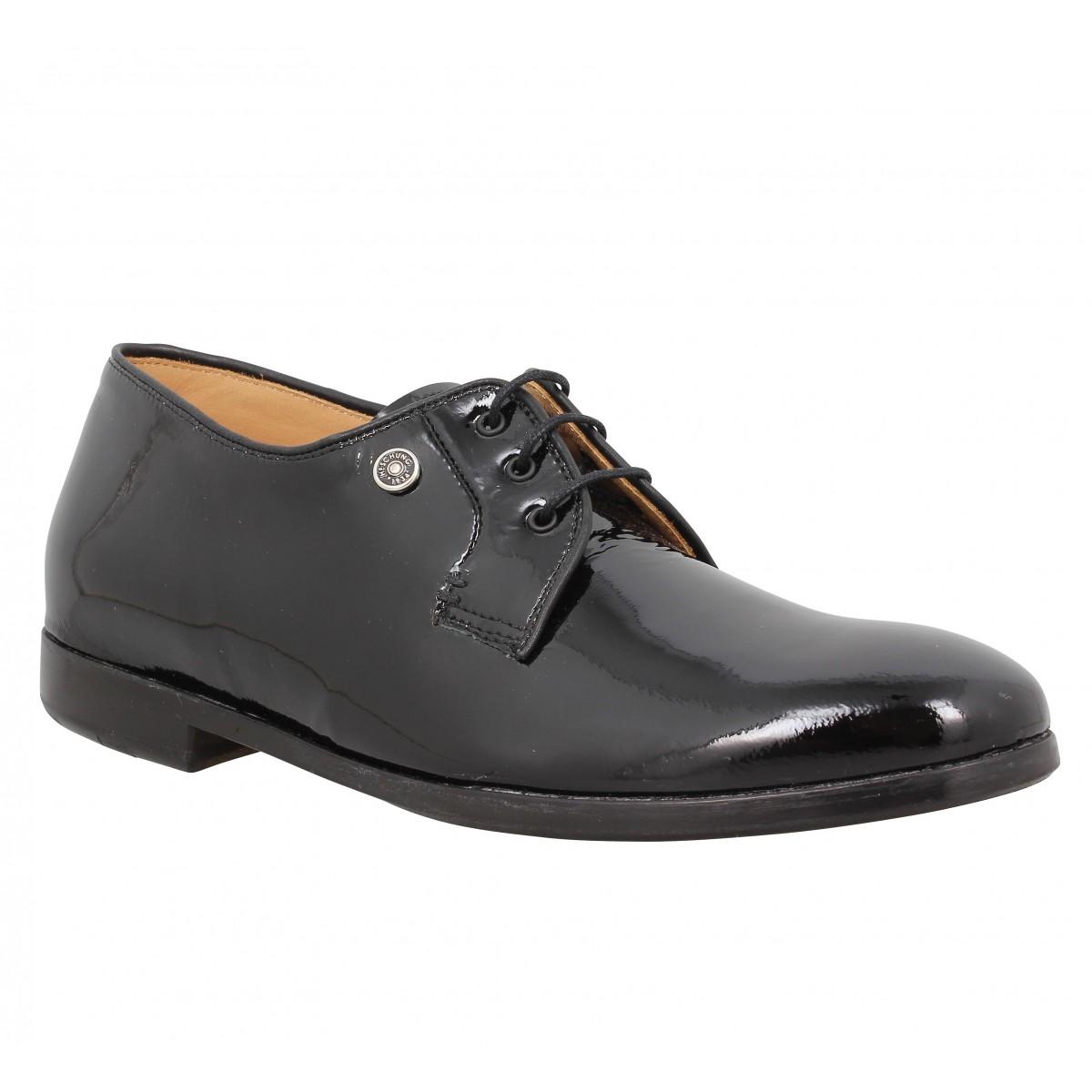Chaussures à lacets HESCHUNG Jane vernis Femme Noir