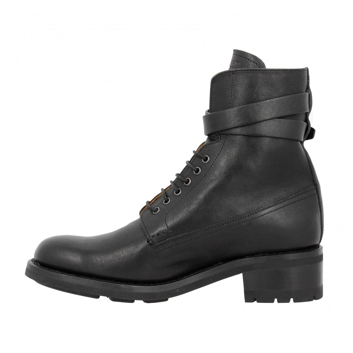 Heschung ketmie bis cuir femme noir   Fanny chaussures