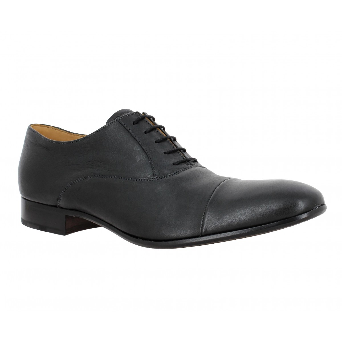 Chaussures à lacets HESCHUNG Malus Safari cuir Homme Noir
