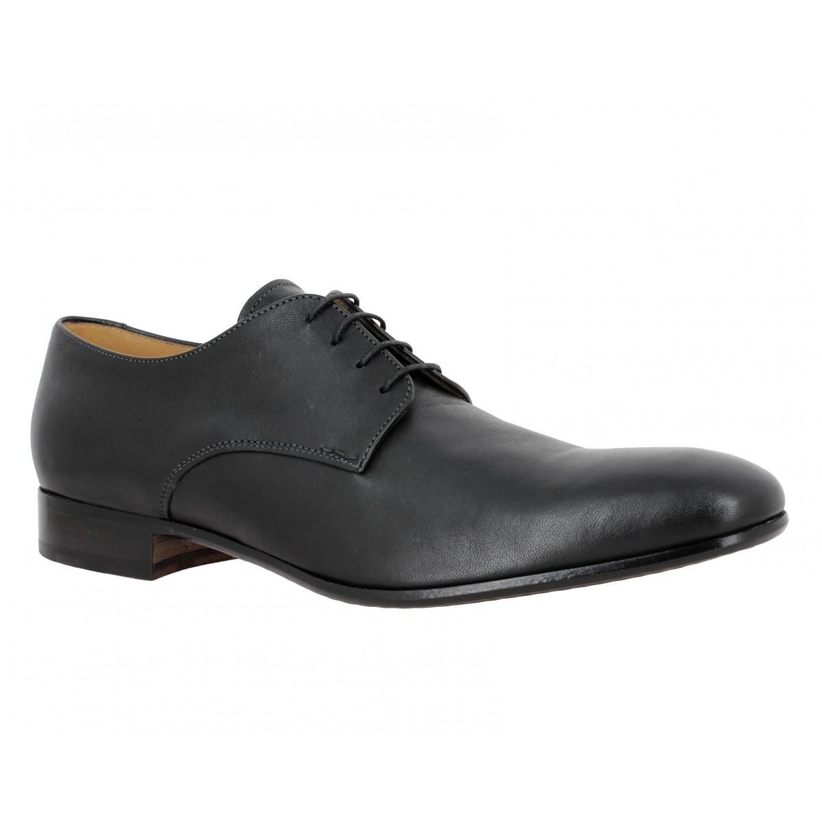 Chaussures à lacets HESCHUNG Nerium Safari cuir Homme Noir