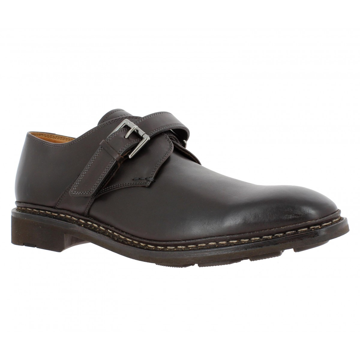 Chaussures à lacets HESCHUNG Noyer cuir Homme Cafe