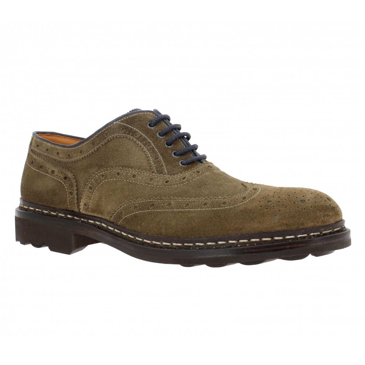 Chaussures à lacets HESCHUNG Owen velours Homme Taupe