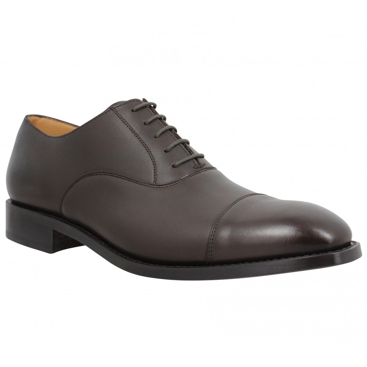Chaussures à lacets HESCHUNG Tilleul cuir Homme Cafe