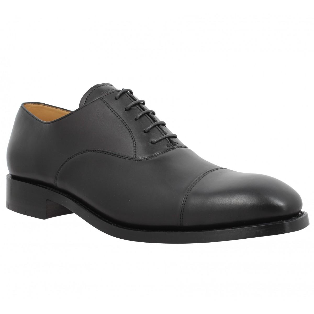 Chaussures à lacets HESCHUNG Tilleul cuir Homme Noir