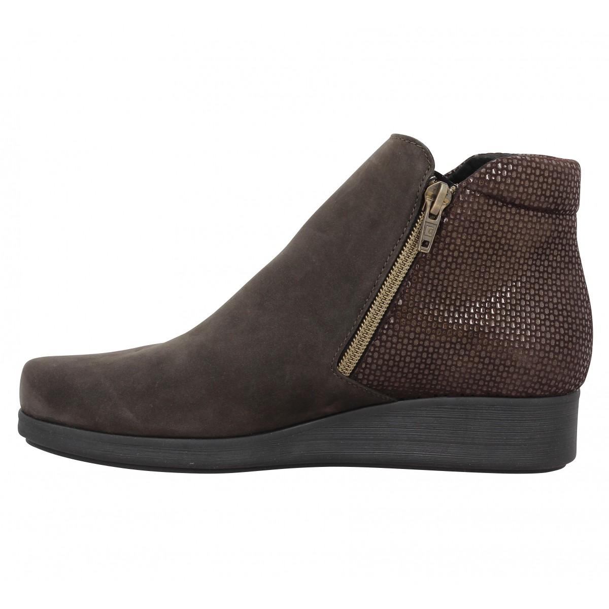 Fanny ebene femme chaussures femme Hirica nubuck bercy n1wpqXTn6