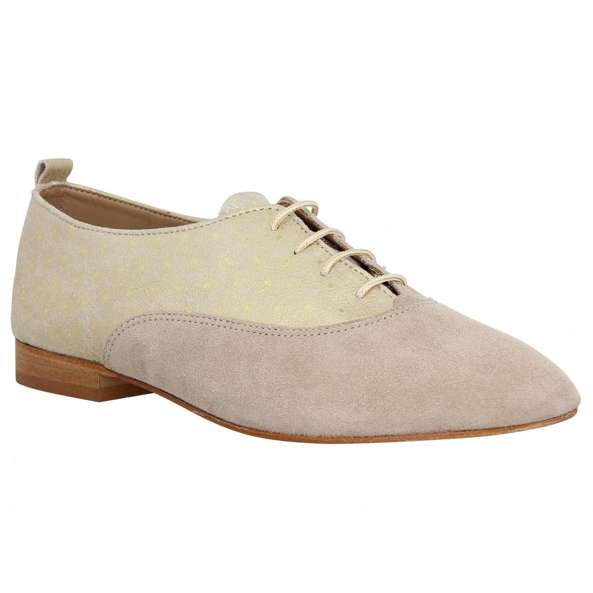 Chaussures à lacets HIRICA Bilbao Femme Beige