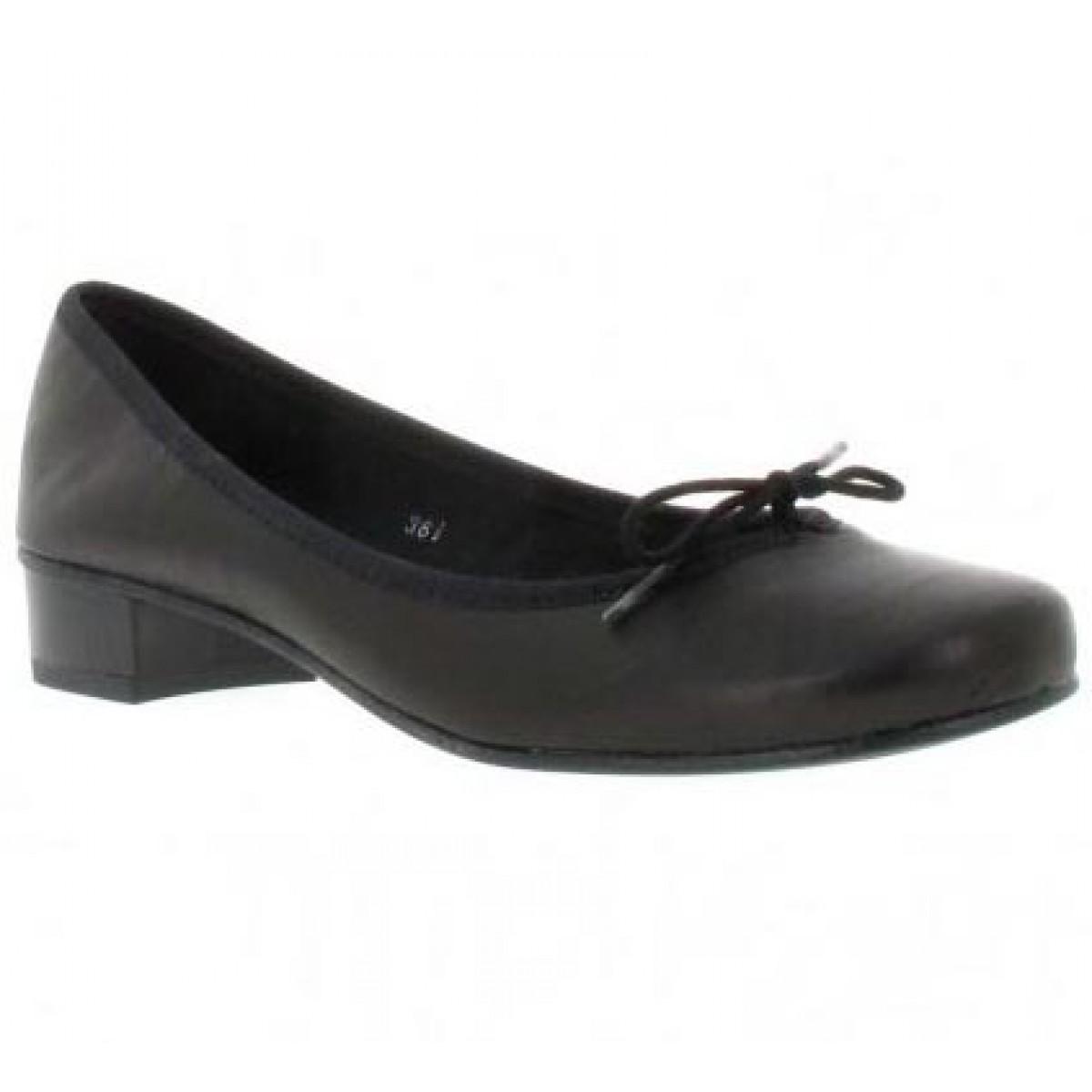 Ballerines HIRICA Lautrec cuir Femme Noir