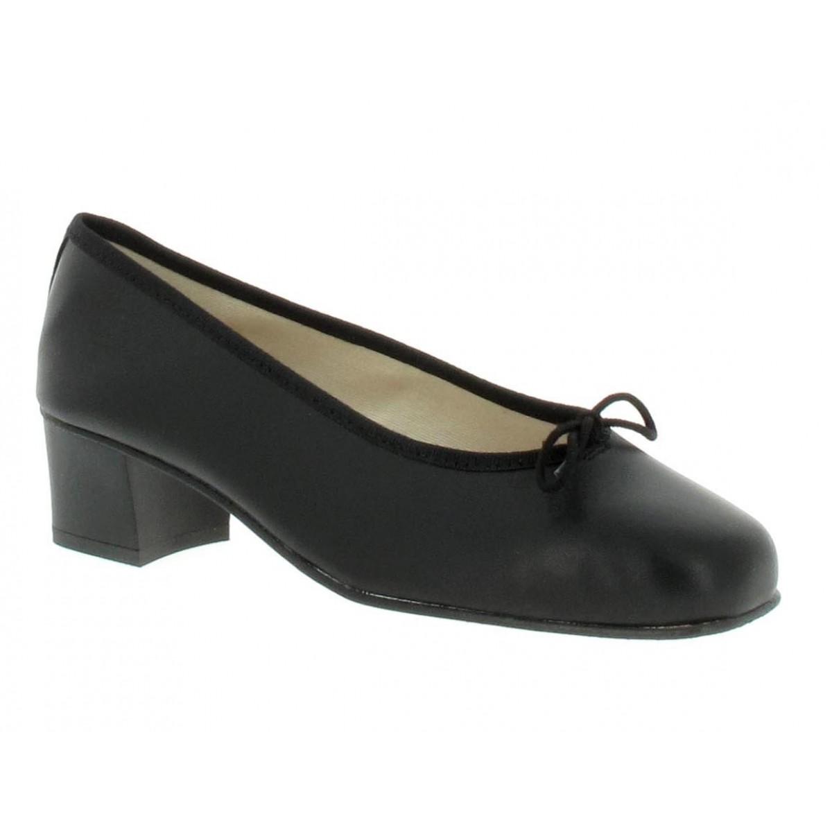 Ballerines HIRICA Sonia cuir Femme Noir