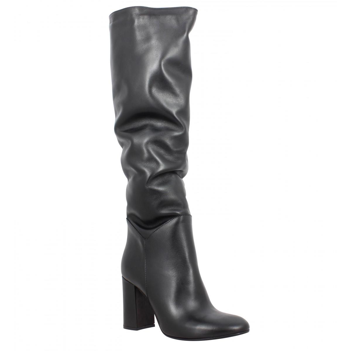 Bottes IMPICCI A09 cuir Femme Noir