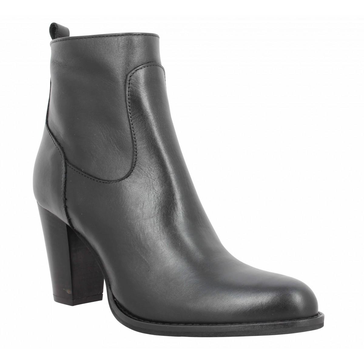 Bottines IMPICCI P30 cuir Femme Noir