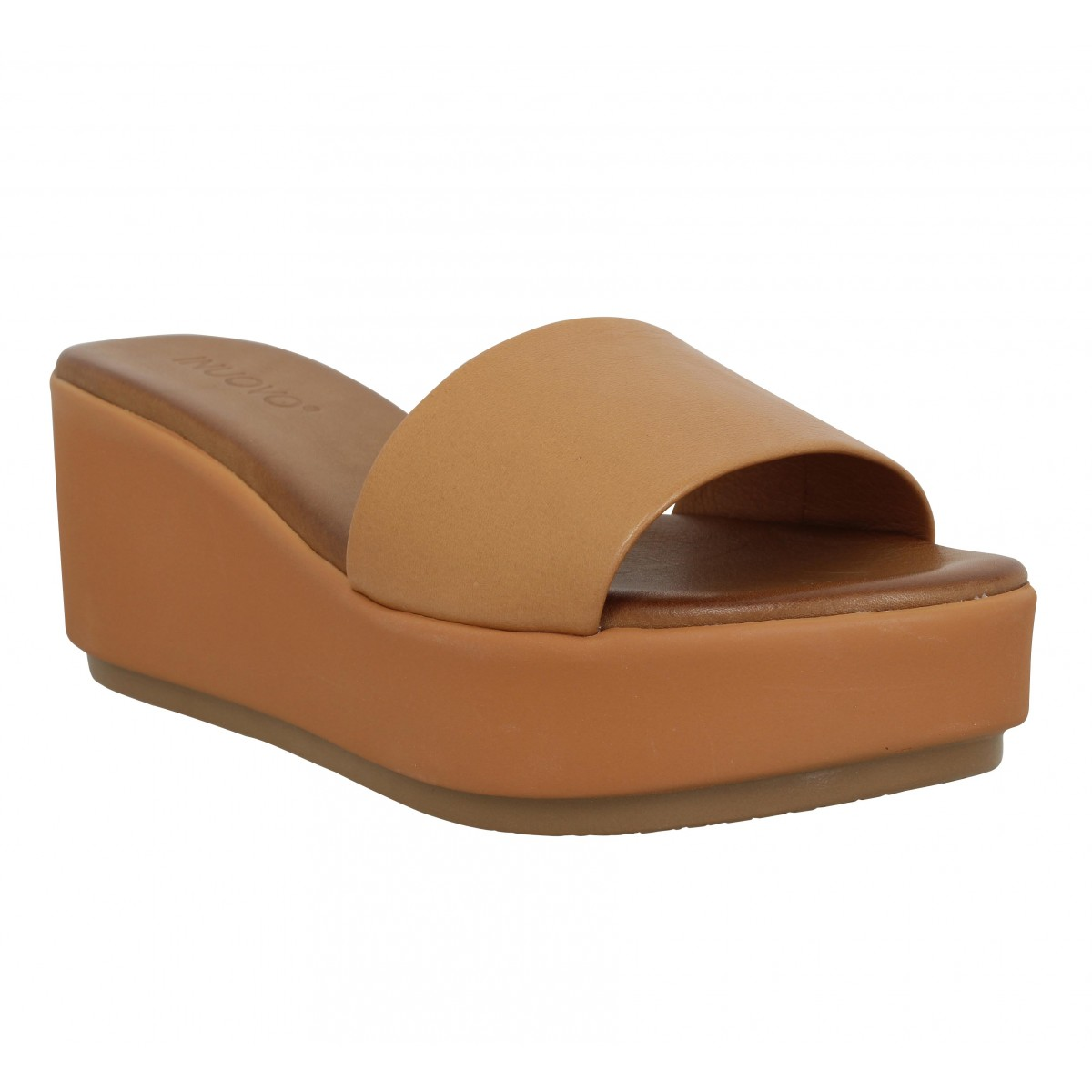 Mules INUOVO 123028 cuir Femme Coconut