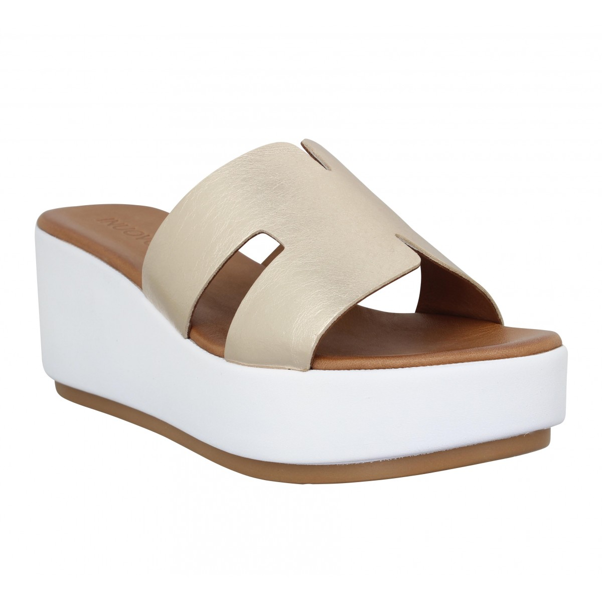 Mules INUOVO 123039 cuir Femme Gold