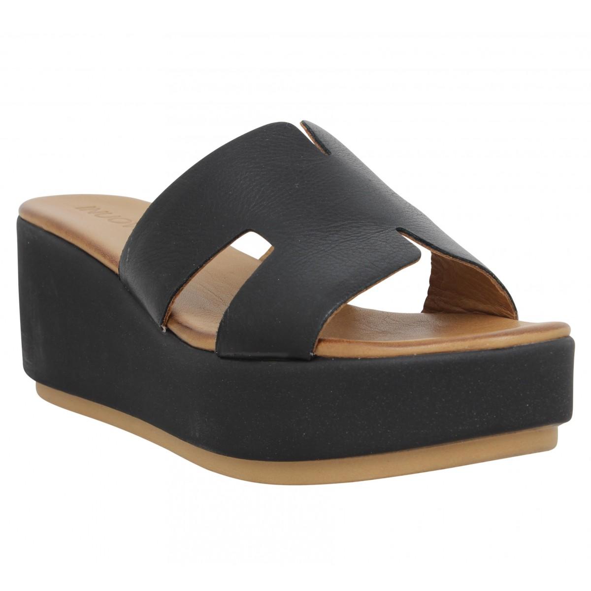 Sandales talons INUOVO 123039 cuir Femme Noir