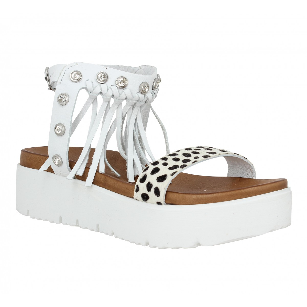 Nu-pieds INUOVO 6045 cuir Femme Blanc