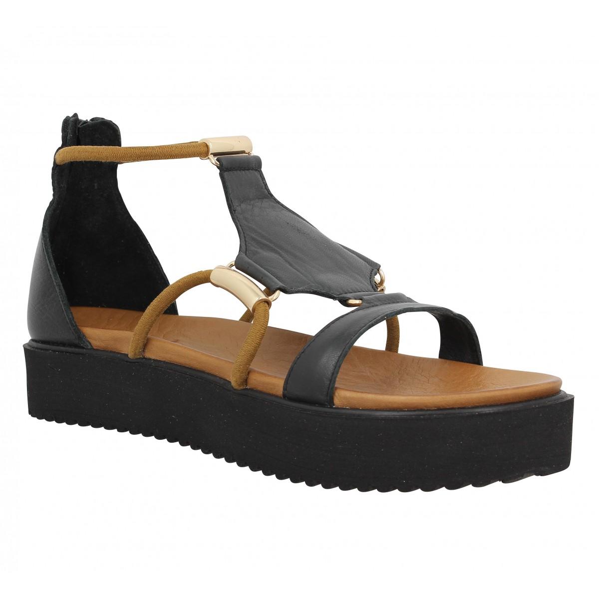 Nu-pieds INUOVO 6130 cuir Black
