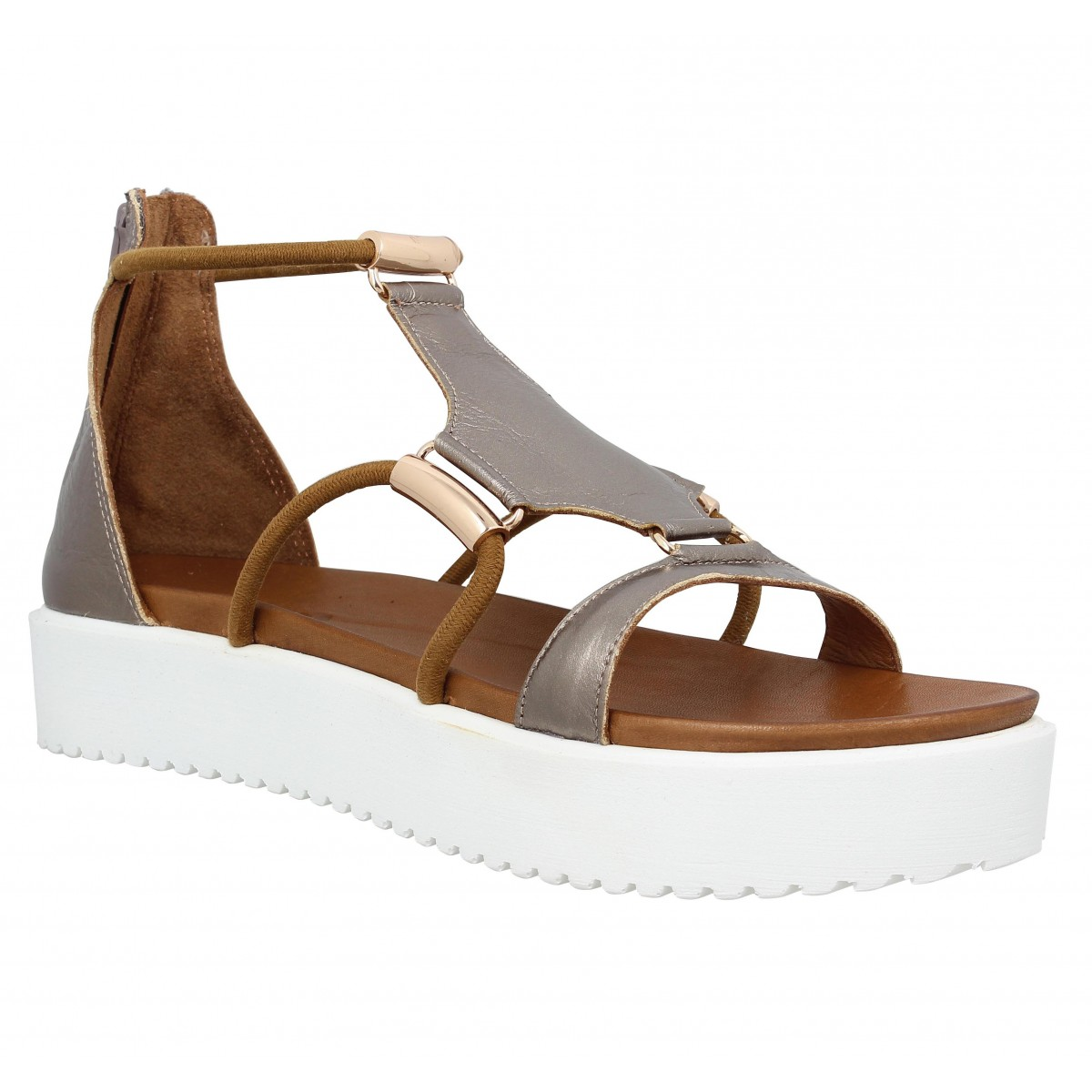 Chaussures Inuovo beiges femme BYj5xX1I