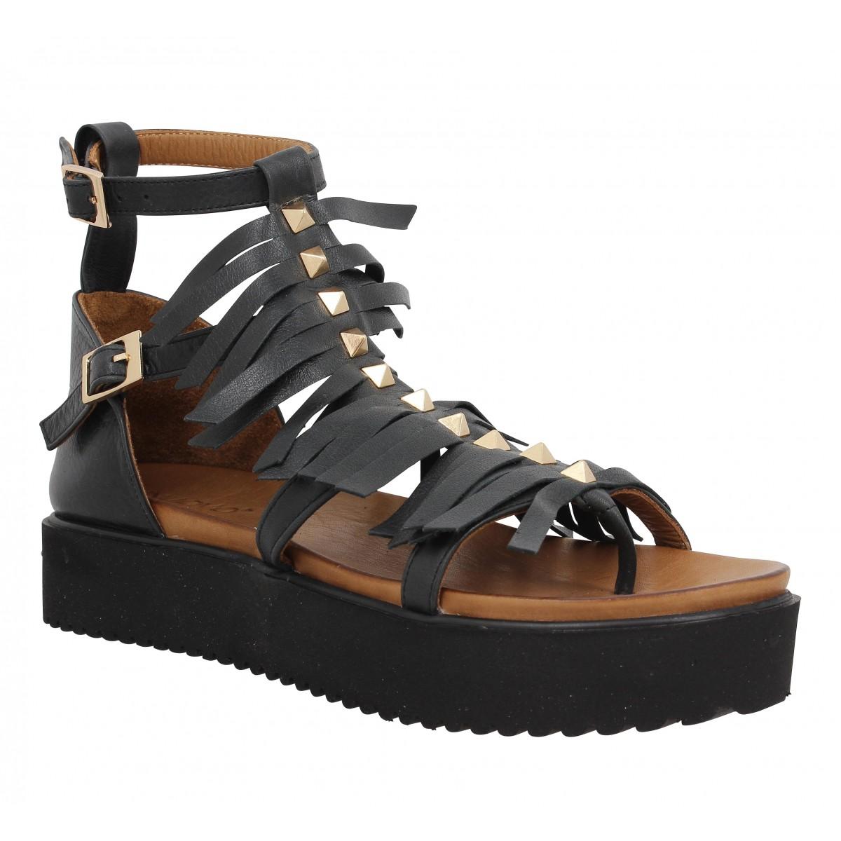Nu-pieds INUOVO 6313 cuir Femme Noir