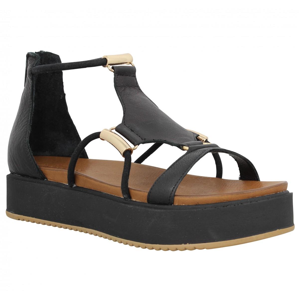 Nu-pieds INUOVO 7378 cuir Femme Noir