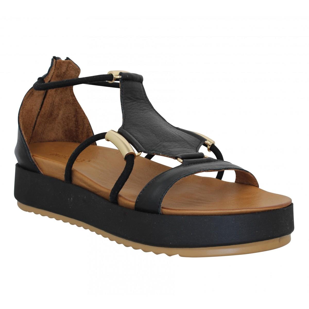 Nu-pieds INUOVO 769010 cuir Femme Noir