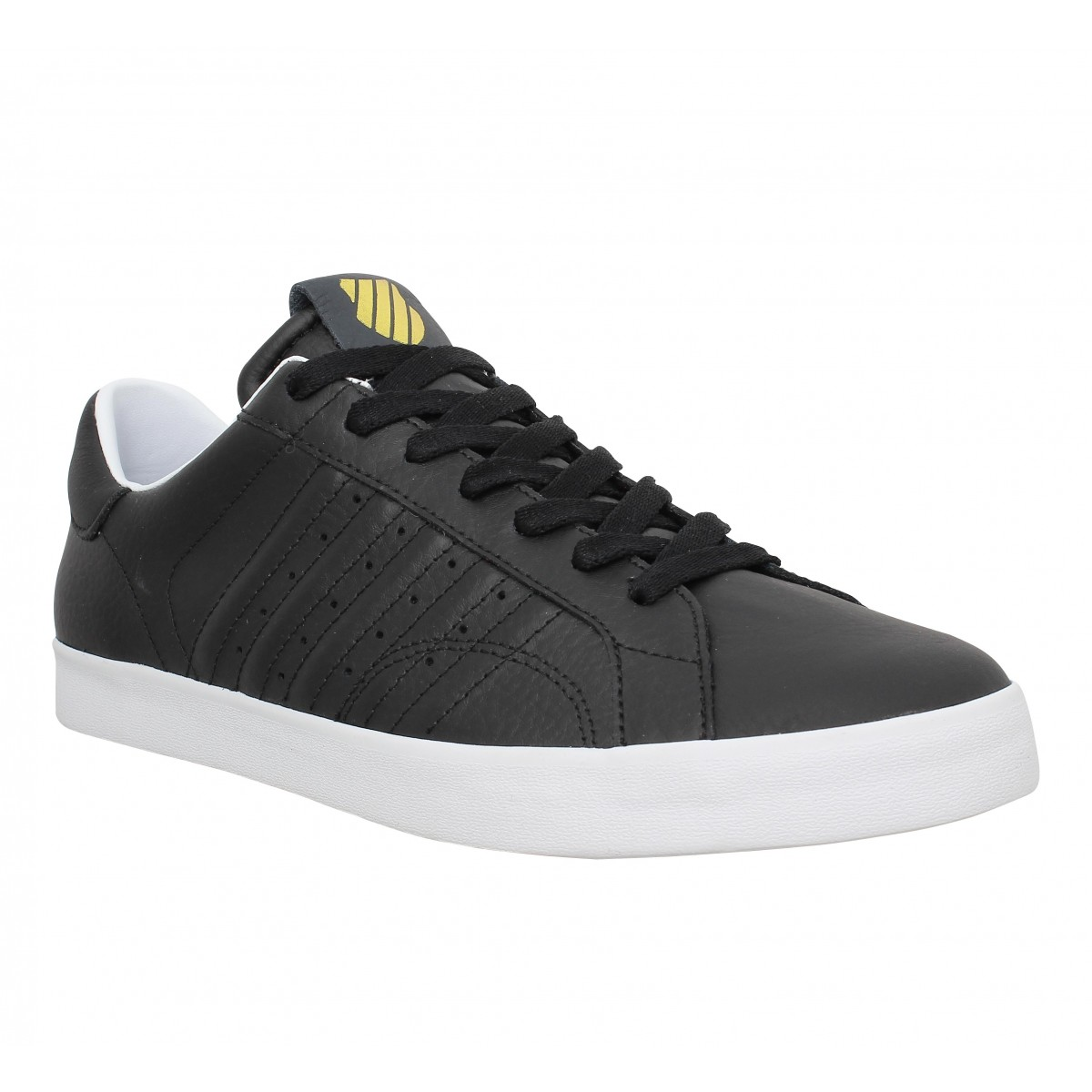 Baskets K-SWISS Belmont cuir Homme Black
