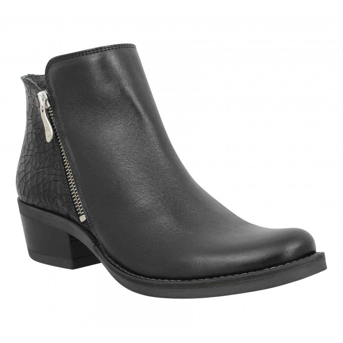 Bottines KANNA 21597 cuir Femme Noir