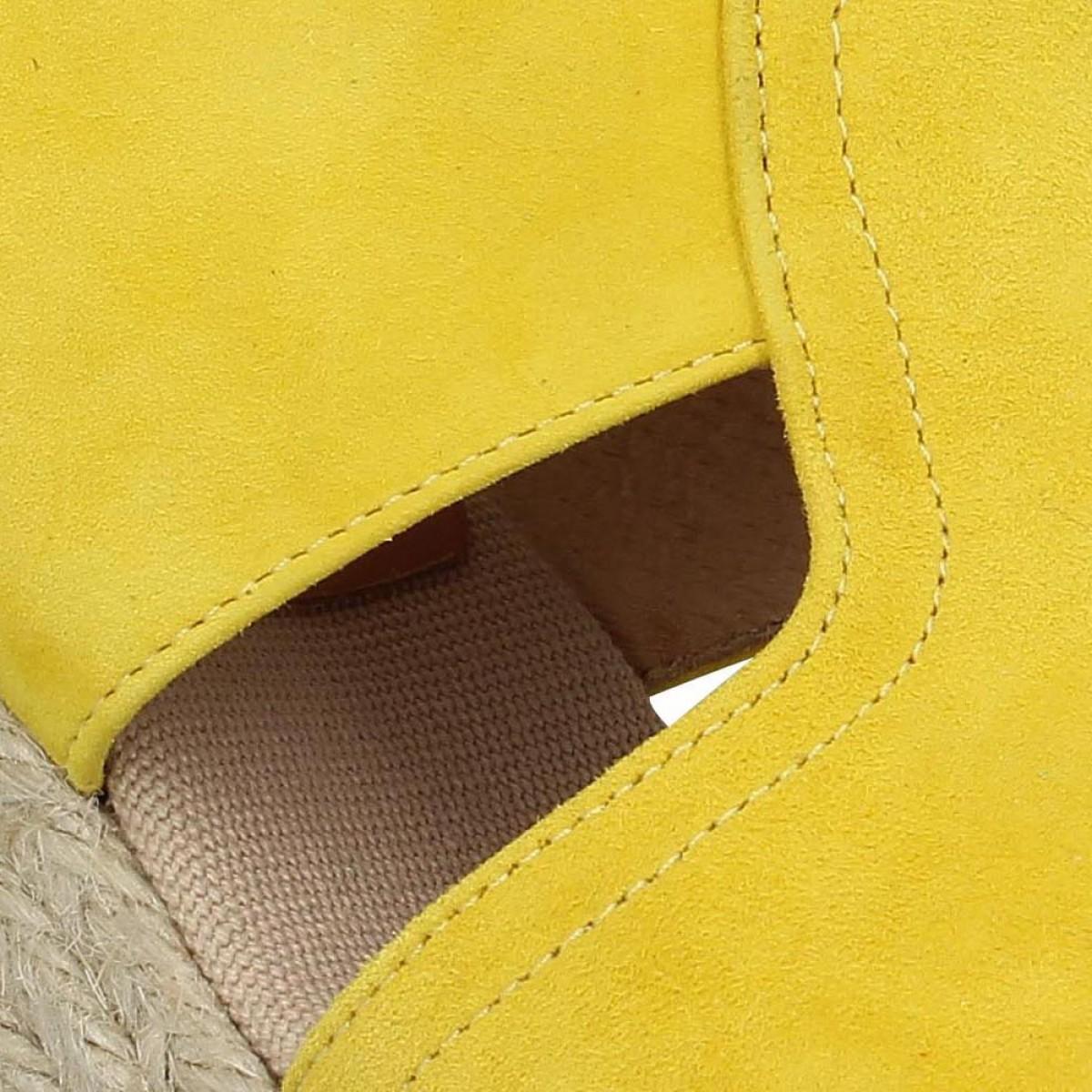 Kanna 5241 velours jaune femme | Fanny chaussures