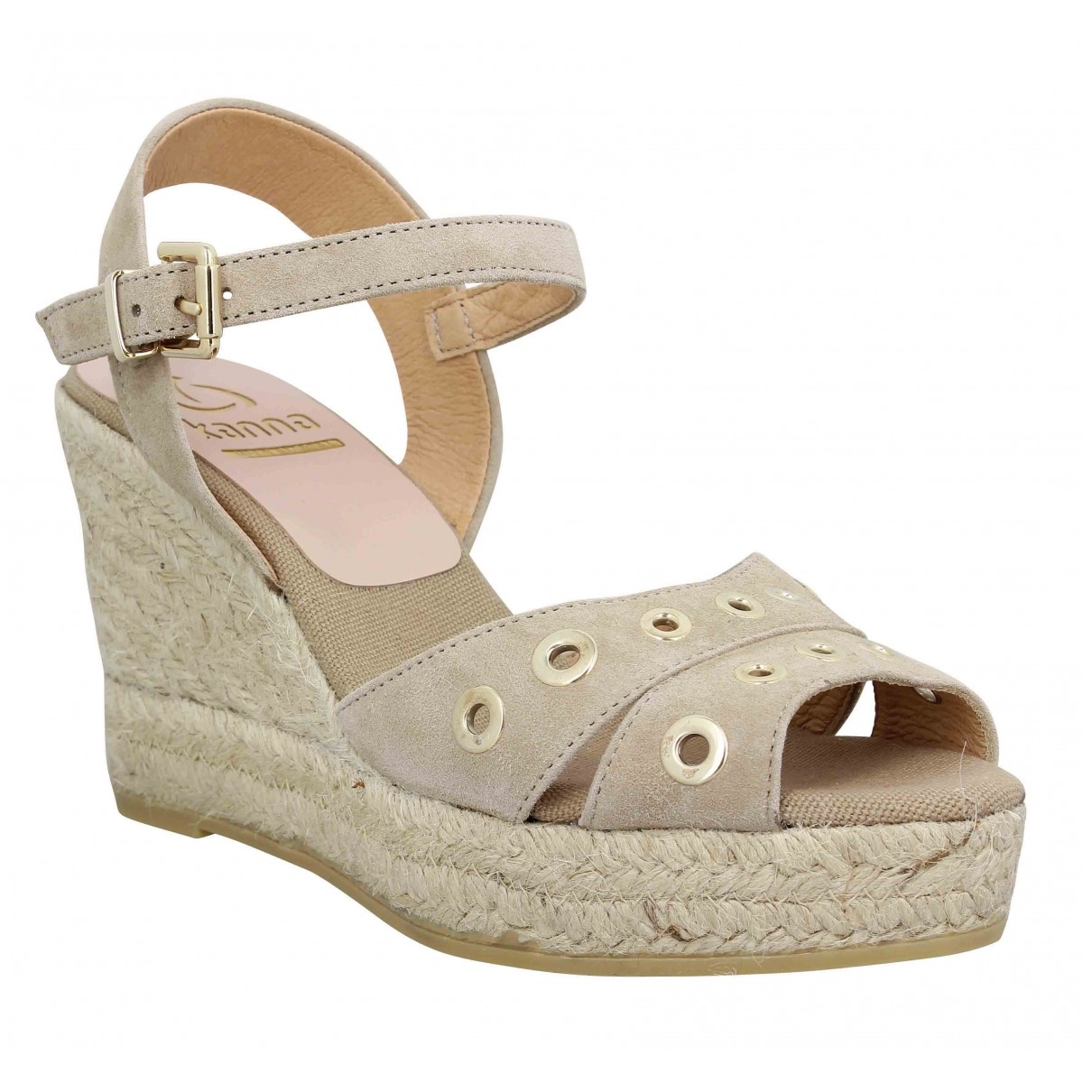 Kanna Marque 8127 Velours Femme-38-taupe