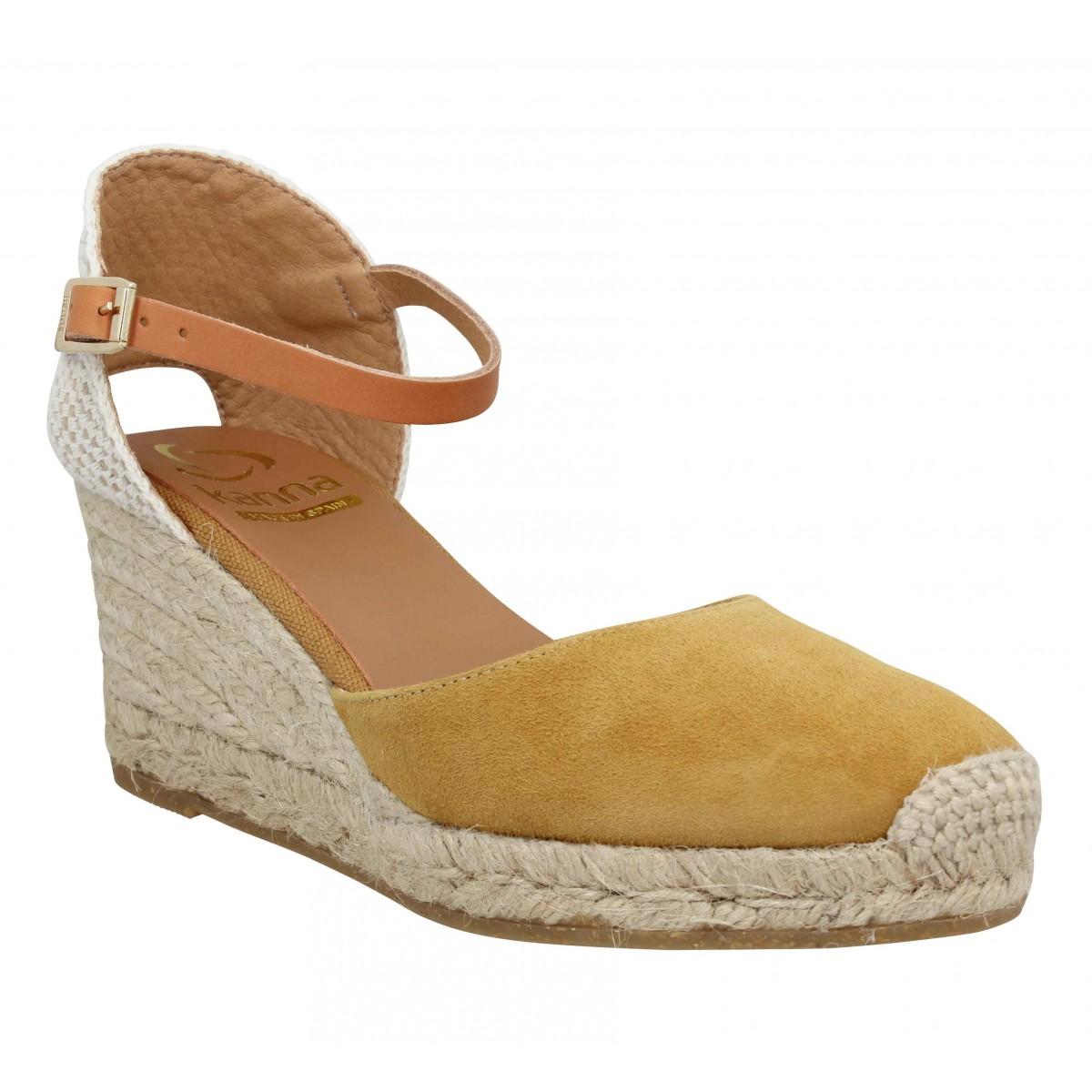 Sandales talons KANNA 9211 velours Femme Safran