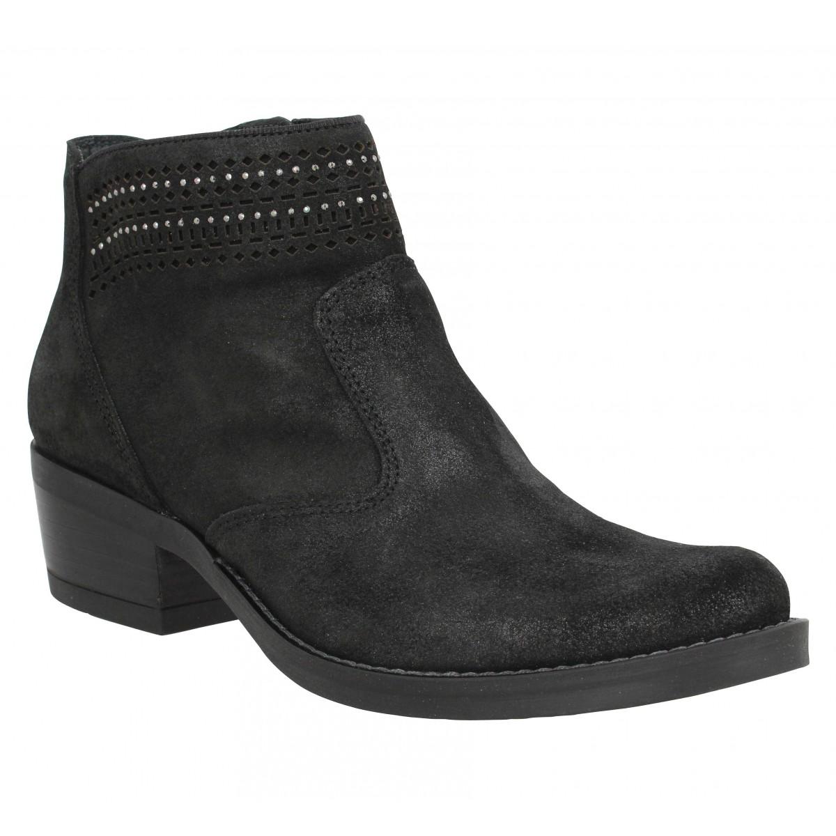 Bottines KANNA 9911 velours Femme Noir